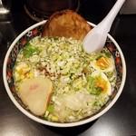 63126341 - 「味彩塩拉麺 (750円)+「おすすめトッピング① (550円)」