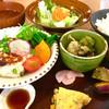 温土 - 料理写真:温土A定食 ドリンク付き¥1000  (鶏と豆腐のハンバーグ自家製ゆずぽん)
