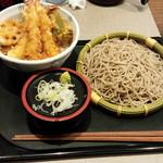 七福 弁天庵 - 七福天丼と二八そば 940円