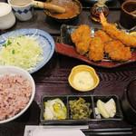 とんかつ浜勝 - 牡蠣フライとヒレ膳