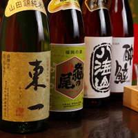 銘酒と並び、九州地酒もご用意