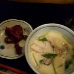 聖徳太子 - 茶碗蒸し&漬物