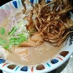鶏Soba 座銀 - 煮干しnigori大 950円