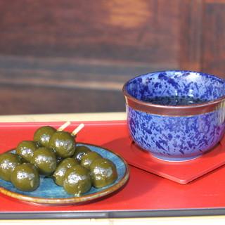 宇治川餅 - 料理写真:熱めのお茶と味わってください。