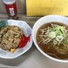 ラーメン とんかつ 忠 - 料理写真:半チャンラーメンセット