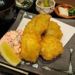 あなごと日本酒 なかむら - あなごと牡蠣のフライ定食880円