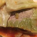 30's - ひき肉とキャベツの重ね焼きのアップ