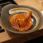 63226516 - 宮崎牛のヒレ肉 糸島の「つまんでご卵」を使って すき焼き風に