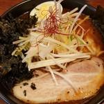 麺処 メディスン麺 - 辛麺 830円 + 岩のり 110円