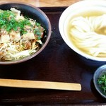 純愛うどん なでしこ ~ARATA~ - ひやかけ味噌カツ丼セット 980円