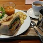 ピット21 カフェ - 料理写真:サンドイッチセット