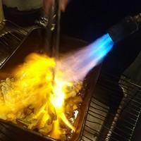 直接炙った炙りキャベツ