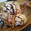 ミルク リトル ガーデン ルーム - 料理写真:チョコレートバナナワッフルセット(860円) ワッフル