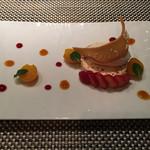 鉄板焼 心 - 但馬産とち蜜のムースと甘糀のソルベ