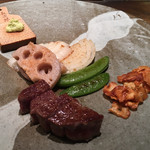 ホテル ラ・スイート神戸ハーバーランド - 夕食(鉄板焼 心にて)
