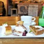 カフェ ウォール - ケーキ3種盛り合わせ