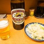 銀座屋 - ビール & ポテトサラダ