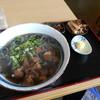 肉よも亭 - 料理写真:よもぎ肉うどん(大)♡