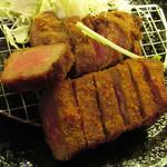 厚切り牛かつ専門店 神戸 牛かつ亭 - デミグラスソースの厚切りレア牛かつ