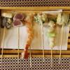 丸の内天ぷらめし 下の一色 - 料理写真:揚げたて!熱々!創作天串 1本80円~