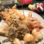 63370477 - 大海老、舞茸、ガッチョ、子持ち昆布、竹輪チーズ、トマト