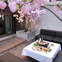 ~桜を観ながら~テラスで楽しむBBQパーティ♪