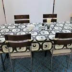寺カフェ 中華そば水加美 - テーブル席の様子