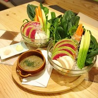 野菜にもこだわり!茨城の新鮮無農薬野菜を使用