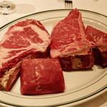 ウルフギャング・ステーキハウス - 頂くお肉