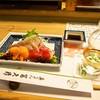 英ちゃん冨久鮓 - 料理写真:お造り盛り合わせ & 冷酒