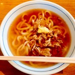ウエストうどん - 料理写真:『かしわうどん』しゃん(520円)