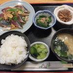 63406560 - カツオタタキ定食 700円