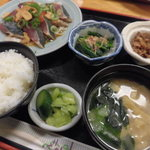 63406566 - カツオタタキ定食 700円