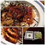 63410549 - ◆まぶし丼・・このお値段ですから「鰻」は少な目。フワッとした焼き上がりではなく、パリッと感がありますね。 タレの甘辛さが好みでした。