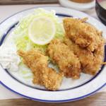 キッチンタロー - カキフライライス(800円)