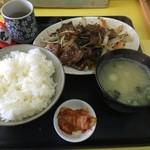 太郎 - レバにらイタメ定食