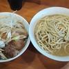 ラーメン二郎 - 料理写真:大豚つけ麺(あつもり)+うずら+ネギ ※コールはニンニク