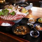 仙人小屋 - 熊焼肉定食☆