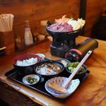 仙人小屋 - 熊鍋定食☆