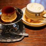 モトマチ喫茶 - カスタードプリン&ウィンナーコーヒー