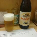 もつ焼き いとや - 瓶ビールはキリン。ビヤタンがキレッキレに冷えております。