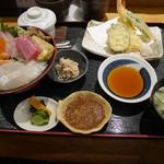 塚本鮮魚店 - 「特上海鮮丼天ぷら膳」