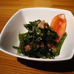 オープンカフェ - 野菜(この日はホウレン草)のソテー280円