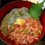 ふみ野 - 生桜えびと生しらす丼