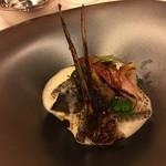 レストラン ラ フィネス - 鮑とスコットランドべキャス