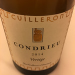 レストラン ラ フィネス - 2014 Yves Cuilleron Condrieu Vertige
