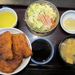 ヨーロッパ軒 - カツ丼セット:1080円(税込み)