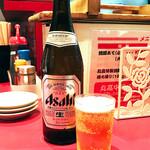 丸高中華そば - ビールはアサヒ!(・∀・)