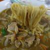 蝦夷 - 料理写真:カレーラーメンの麺