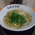 朝打ちうどん 大鶴製麺処 - かけ 並350円